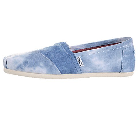 Toms Womens Classics Blue Tie-Dyed Slip-Ons