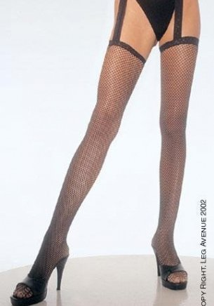 Plus Size Fishnet Garterbelt Stocking