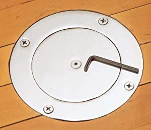 Spalding Locking Volleyball Chrome Floor Plate 3 in. Sleeve by Spalding