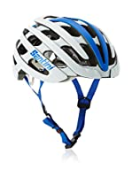 Santini Casco de Ciclismo (Blanco / Azul)
