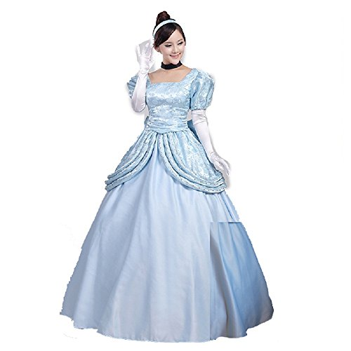 Cosplayhome Cinderella Princess Dress Cosplay Costume