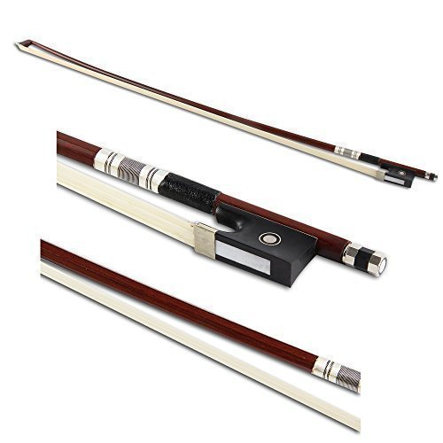 Crescent 4/4 Full Size Well Balanced Round Brazil Wood Mongolian Horsehair Violin Bow (Full Violins compare prices)
