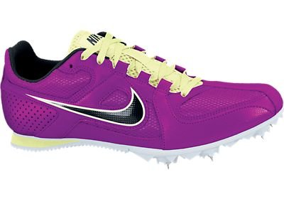 Womens Nike Zoom Rival 6 Mid Distance Track Spike Grape/Volt/Black