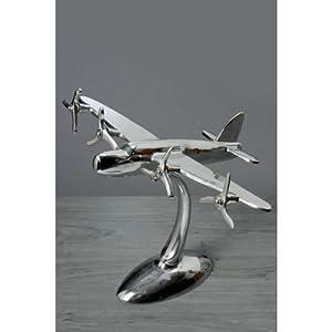Flugzeug Aus Aluminium Flugzeugmodell Silber Deko Modell