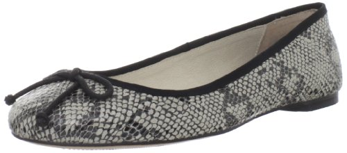 ALL BLACK Women's Exotic Fab Ballet Flat,Black,37.5 EU/7 M US