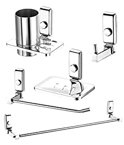 Dazzle bathroom accessories set stainless steel bathroom for Bathroom 94 percent