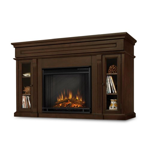 Lannon Electric Fireplace In Espresso Lowes Electric Fireplace