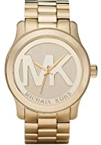Women Michael Kors MK5473 Gold Tone Stainless Steel Case and Bracelet Gold Tone