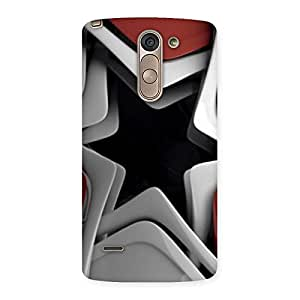 Enticing Techisa Multicolor Back Case Cover for LG G3 Stylus