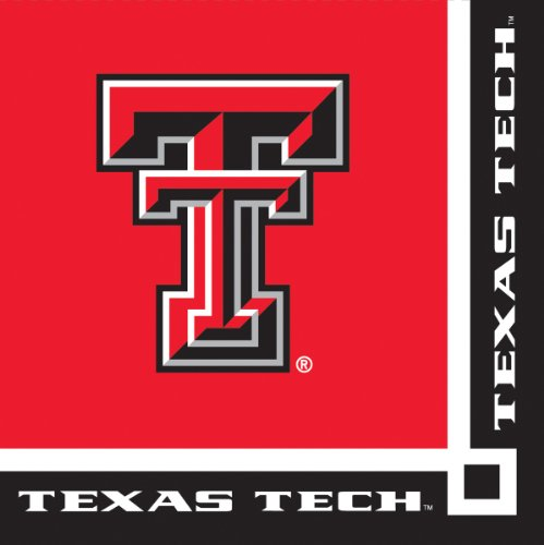 Creative Converting Texas Tech Red Raiders Beverage Napkins (20 Count)