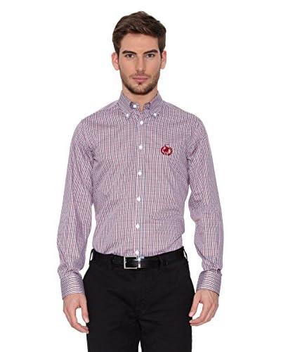 Polo Club Camisa Hombre Checks Rojo / Negro