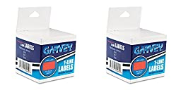 Garvey One-Line Pricemarker Labels, 7/16 x 13/16 Inches, Fluorescent Red, 1200/Roll, 3 Rolls/Box (090945), 2 Packs