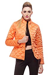 Quilted Peach Peplum Jacket