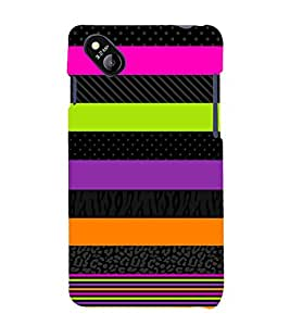 Colorful Art Pattern 3D Hard Polycarbonate Designer Back Case Cover for Micromax Bolt D303