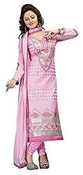 Manvaa Women's Light Pink Embroidered Chudidar Dress Material