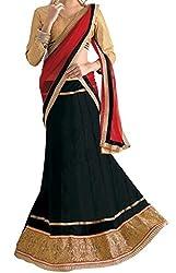 Look Smart Women's Lehenga Choli (SARGAM BLACK_Multicolor_)