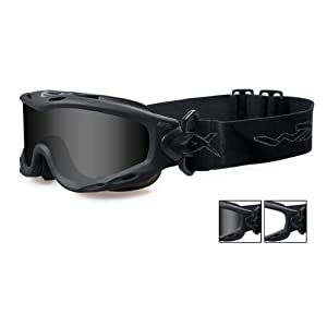 Wiley X Nerve Sunglasses, Smoke Grey/Clear, Matte Black
