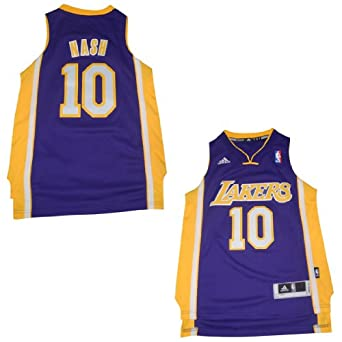 NBA Los Angeles Lakers Nash #10 Youth Jersey Top with Embroidered Logo by NBA