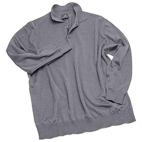 Maglia taglie forti uomo Maxfort 3316 misto lana con collo a polo - Blu scuro, 5XL