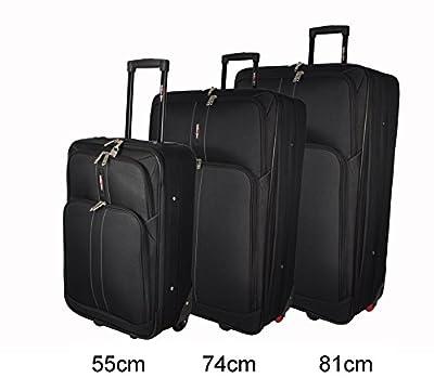 Large 74 cm (29'') Super Lightweight Expandable Luggage Suitcase (Black WG Edition)