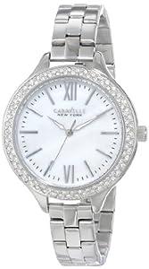 Caravelle New York Women's 43L165 Analog Display Japanese Quartz White Watch