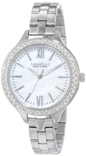 Caravelle by Bulova Women's Steel Bracelet & Case Quartz MOP Dial Analog Watch 43L165