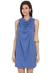 Remanika Women's A-Line Dress (PH-SHAKO9_Blue_Large)