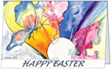 Easter Butterfly Flowers Happy Holiday Pretty Greetiing Card 5x7 by QuickieCards