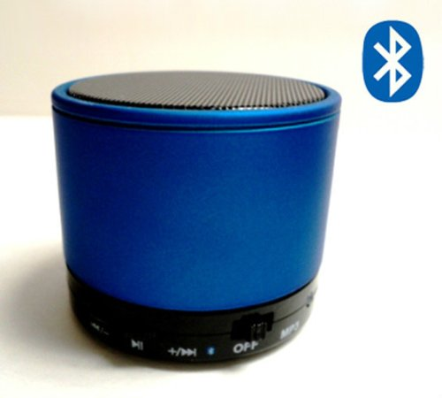 Mini-Beats Bluetooth Wireless Mini Speaker For Iphone / Ipad / Ipod / Mp3 Player / Laptop - Built-In Microsd Card Slot - Amazing Sounds (Blue)