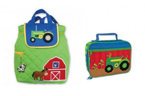 Stephen Joseph Quilted Backpack & Lunchbox, Farm front-939315