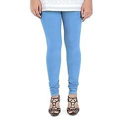 Vami Cotton Churidaar Leggings for Women in Ocean Blue