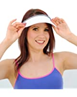 Ladies cotton clip on visor (10059)