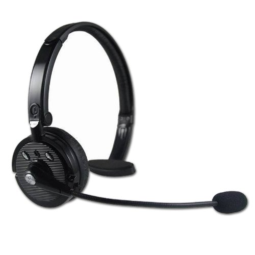 Blue Tiger Wireless Headwearing Bluetooth Handsfree Headsets With 20 Hour Talk Time & 4 X Noise Cancelling For Cell Phones/Computers