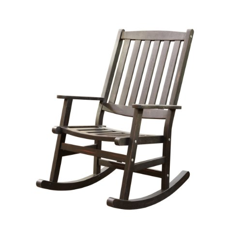 Home Styles Bali Hai Outdoor Rocking Chair, Black front-675341