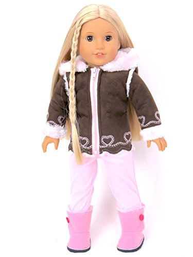 18 Inch Doll Clothes - Cozy Pink and Brown Jacket- American Girl *DOLL IS NOT INCLUDED* (Graco Mini Pack N Play compare prices)