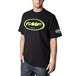 FMF Classic Don Men's Short-Sleeve Racewear T-Shirt/Tee - Black/Grey / Medium