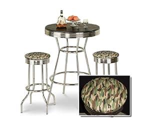 chrome bar table 2 chrome camouflage seat