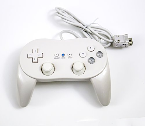 Old Skool Wii Classic Pro Controller for Wii and WiiU White (Control Wii Classic compare prices)