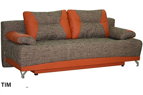 TIM large fabric sofa bed couch with storage pillows sleeping area living room office furniture couches sofas