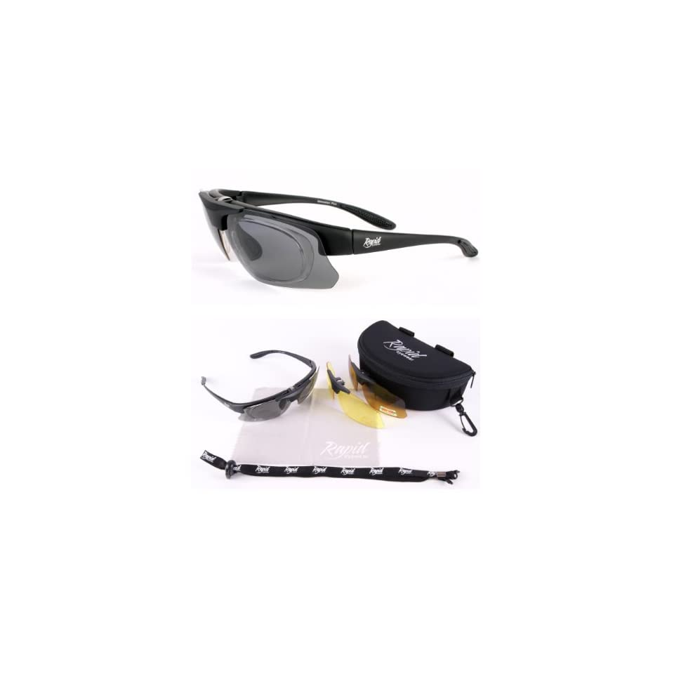 517350ff8d Pro Performance Rx POLARIZED PRESCRIPTION Sport Sunglasses With  INTERCHANGEABLE Anti Glare Lenses for Running