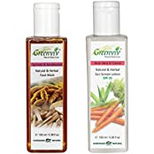 Greenviv Natural Combo Of Aloe-Vera & Carrot Sun Screen Lotion SPF-25 (100 Ml) With Turmeric & Sandalwood Face...