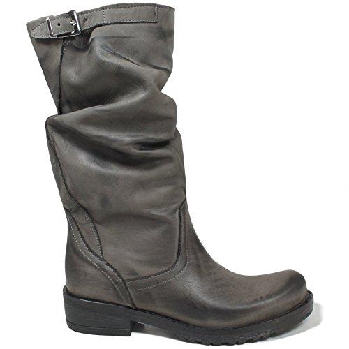 stivali-biker-boots-meta-polpaccio-donna-in-time-0156-grigio-arricciati-in-vera-pelle-made-in-italy