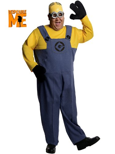 Mens Plus Size Despicable Me Minion Dave Costume