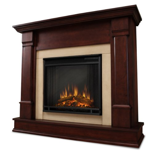 The Mathias Ventless Electric Indoor Fireplace - Dark Mahogany photo B007Q14LWE.jpg