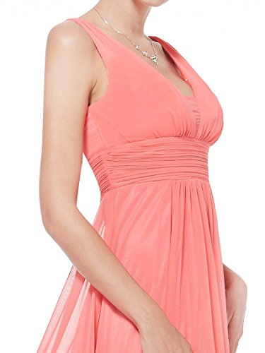 HE08110CO10, Coral, 8US, Ever Pretty Semi Formal Dresses For Weddings 08110