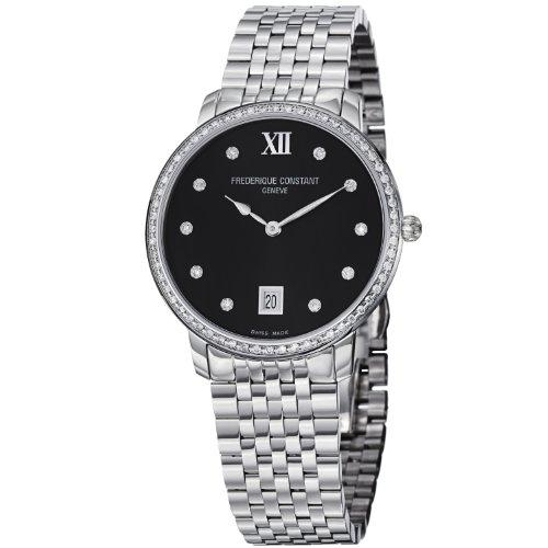 Frederique Constant FC-220B4SD36B - Reloj de pulsera mujer, acero inoxidable, color plateado