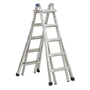 See Werner MT-22 300-Pound Duty Rating Telescoping Multi-Ladder, 22-Foot Full size and View details