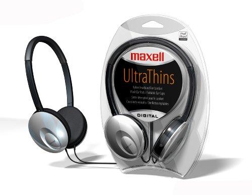 Maxell 190248 Ultra-Thin Headphones (Silver)