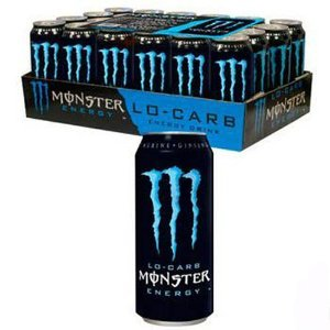 Monster Lo Carb Energy Drink - 24/16 oz (2 Pack)