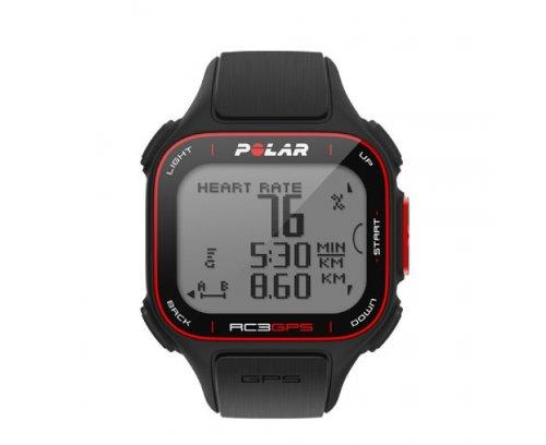 POLAR RC3 GPS HR Sportuhr, Schwarz